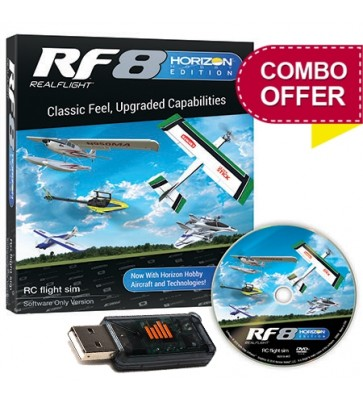 RealFlight RF8 Horizon Hobby Edition, Software + WS1000 USB Dongle Combo Package