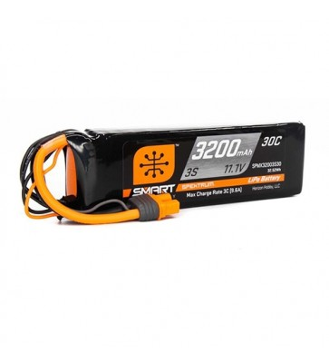 Spektrum 3200mAh 3S 11.1V 30C Smart LiPo Battery w IC3