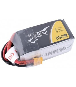 Tattu 800mAh 14.8V 75C 4S1P Lipo Battery Pack with XT30