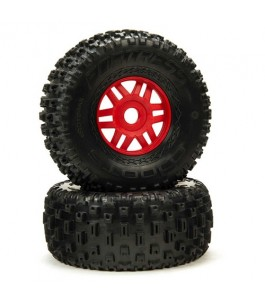DBOOTS 'Fortress' Tire Set Glued, Red (2)