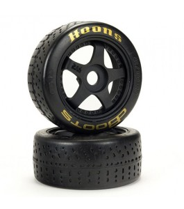 "ARRMA dBoots Hoons 42/100mm Gold Belted Tires with 2.9"" 5-Spoke Wheels (2)"