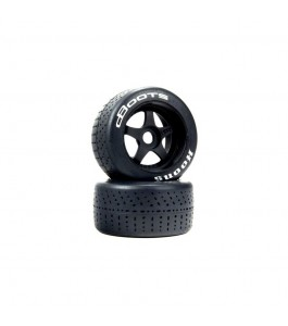 DBoots Hoons 53/107 2.9 Pre-Mounted Belted Tires, White, 17mm Hex, 5-Spoke (2)