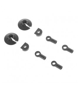 Shock Rod End Set: Nero (2)