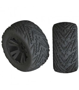 ARRMA dBoots Minokawa LP 4S Tire 3.8 Glued, Black (2)