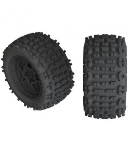 ARRMA dBoots Backflip LP 4S Tire 3.8 Glued, Black (2)