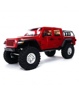 Axial 1/10 SCX10 III Jeep JT Gladiator Rock Crawler with Portals RTR, Red