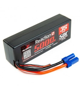 Dynamite 11.1V 5000mAh 3S 50C Reaction 2.0 Hardcase LiPo Battery: EC5