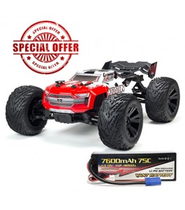 ARRMA 1/10 KRATON 4x4 4S BLX Brushless Monster Truck RTR, Red