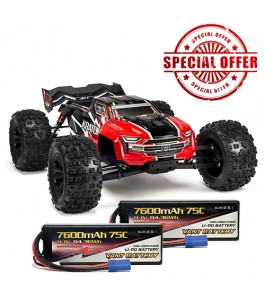 ARRMA 1/8 KRATON 6S BLX 4WD Brushless Speed Monster Truck RTR, Red