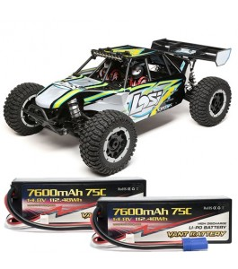 Losi 1/5 Desert Buggy XL-E 4WD Brushless RTR with AVC, Black with Vant Battery Promotion