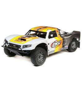 Losi 1/5 5IVE-T 2.0 4WD Short Course Truck Gas BND, Grey/Orange/White
