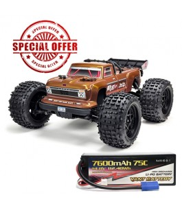 ARRMA 1/10 OUTCAST 4x4 4S BLX RTR Bronze with 1x Vant Battery Promotion