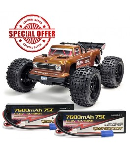 ARRMA 1/10 OUTCAST 4x4 4S BLX RTR Bronze with 2x Vant Battery Promotion