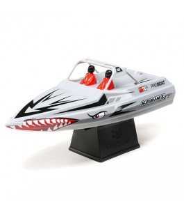 "Pro Boat Sprintjet 9"" Self-Righting Jet Boat Brushed RTR, Silver"