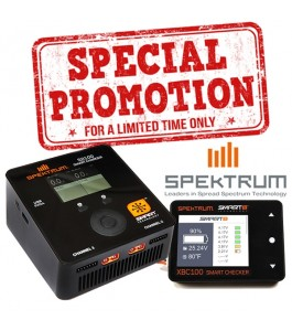 Spektrum Smart S2100 AC Charger w Battery Checker Combo Package