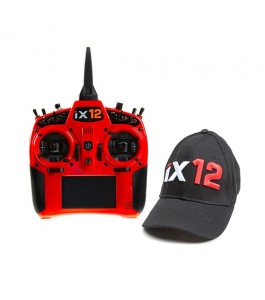 Spektrum iX12 12-Channel DSMX Transmitter Only, Red