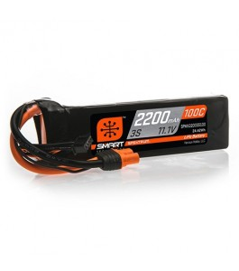 Spektrum 2200mAh 3S 11.1V 100C Smart LiPo Battery w IC3
