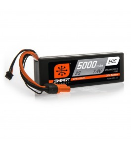 Spektrum 5000mAh 2S 7.4V 50C Smart LiPo Hardcase w IC5