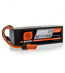 Spektrum 11.1V 5000mAh 3S 100C Smart Hardcase LiPo Battery: IC5