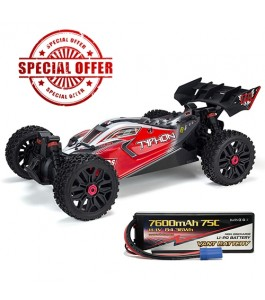 ARRMA 1/8 TYPHON 3S BLX 4x4 Brushless Buggy RTR, Black