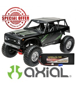 Axial 1/10 Wraith 1.9 4WD Brushed RTR, Black with Vant Battery Promotion